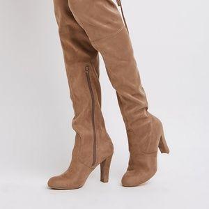 NWT Charlotte Russe gray Myranda heeled boots sz 6